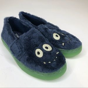 Tom's monster slippers- boys size 11-  New